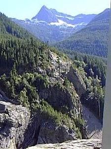 Looking up from Diablo Dam towards Devils Peak