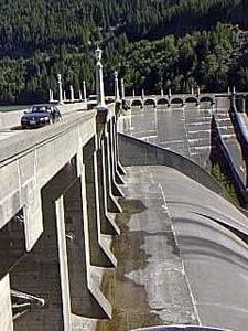 View of Diablo Dam spillway