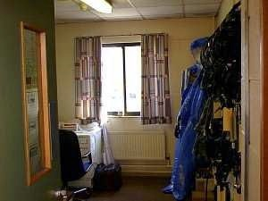 RAF Office with HAZMAT suplies